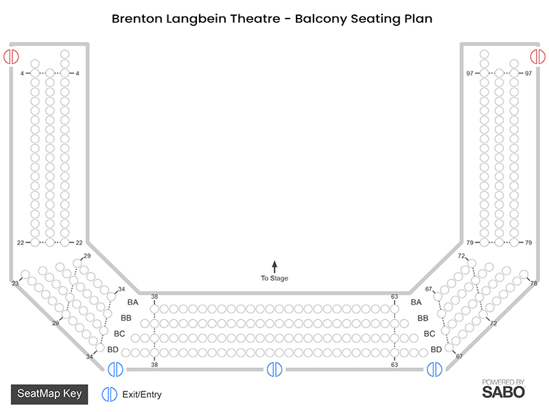 Balcony seating plan