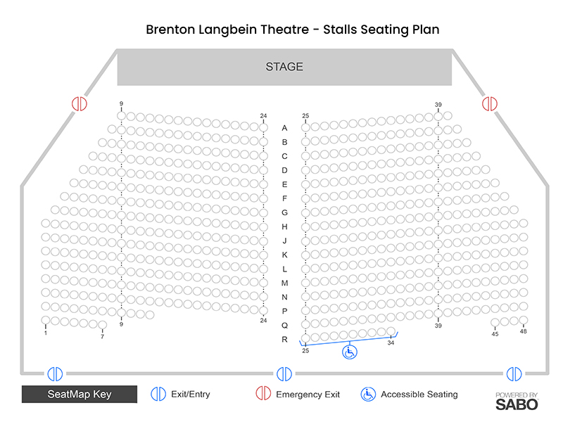 Stalls seating plan